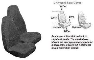 MISC 2 Front Synthetic Sheep Skin Seat Cover - Smoke