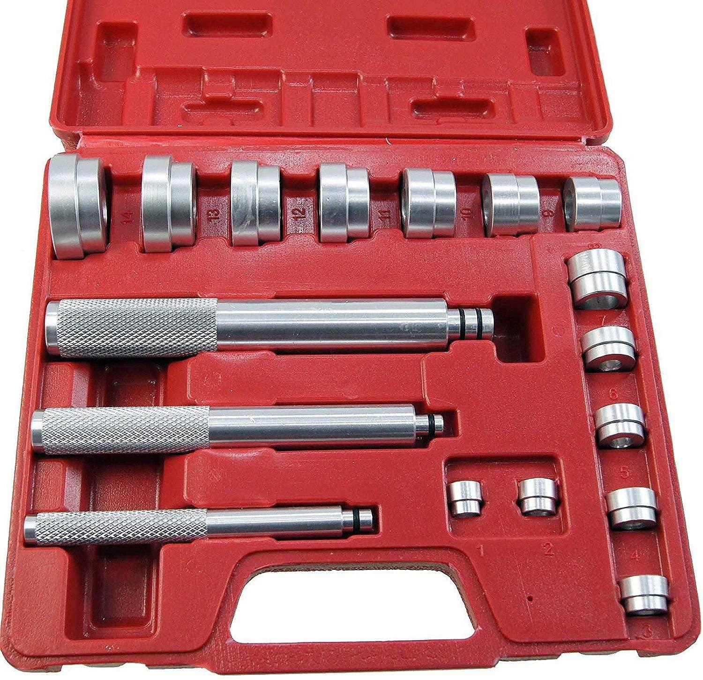 SUNROAD 17PC Aluminum Wheel Bearing Race & Seal Bush Driver Set Garage Tool Kit w/Storage Case