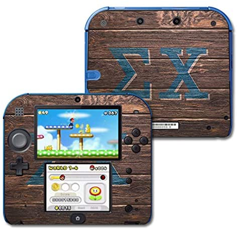 MightySkins Compatible with Nintendo 2DS - Sigma Chi Wood | Protective, Durable, and Unique Vinyl Decal Wrap/Decal | Device Not Included - This is A Skin| Made in The USA