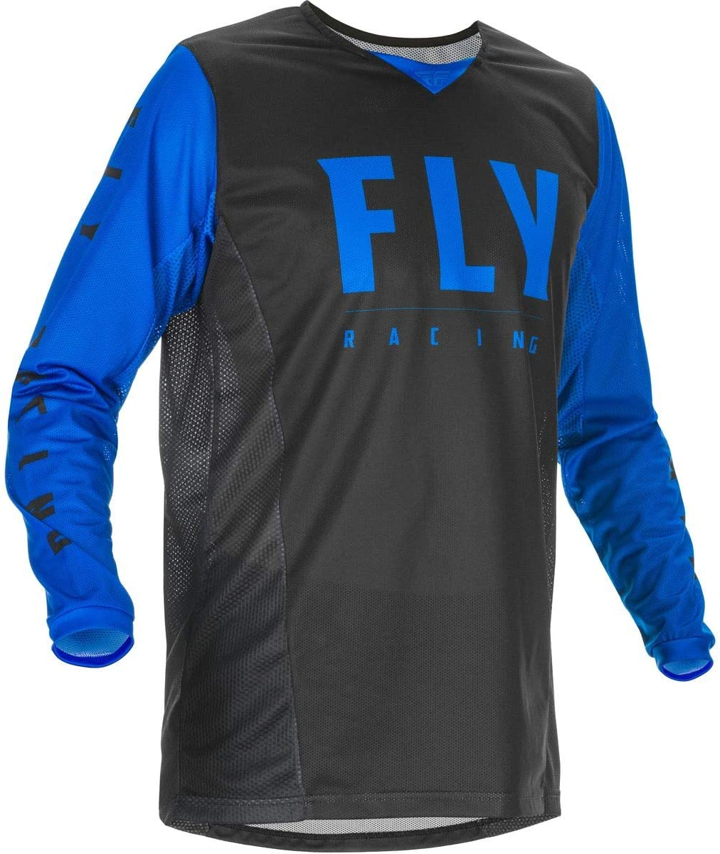 Fly Racing 2020 Youth Kinetic Mesh Jersey (Medium) (Black/Blue)