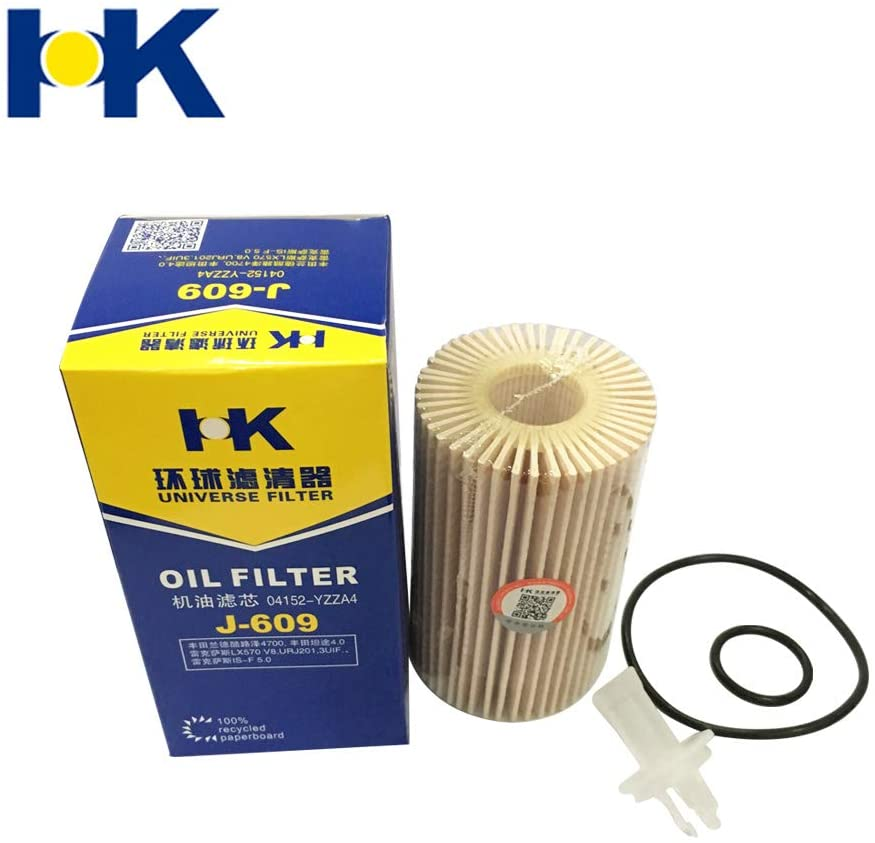 HK CH10295 L25702 Premium Engine Oil Filter fit Lexus IS F 08-20, LX570 08-15, RC F 15, Land Cruiser 08-15, Sequoia 08-15, Tundra 07-15 for Engines V6 4.6L 5.0L 5.7L