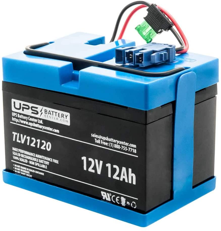 UPSBatteryCenter Replacement for Peg Perego John Deere Turf Tractor with Trailer 12 Volt Battery