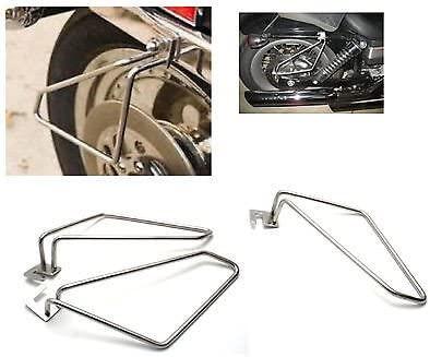 IND STURGIS Motorcycle Saddlebags Brackets for Harley Davidson dyna Fat boy