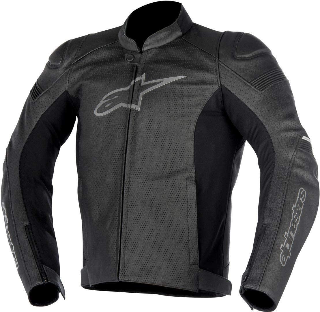 Alpinestars Men's SP-1 Airflow Leather Motorcycle Jacket, Black, 48
