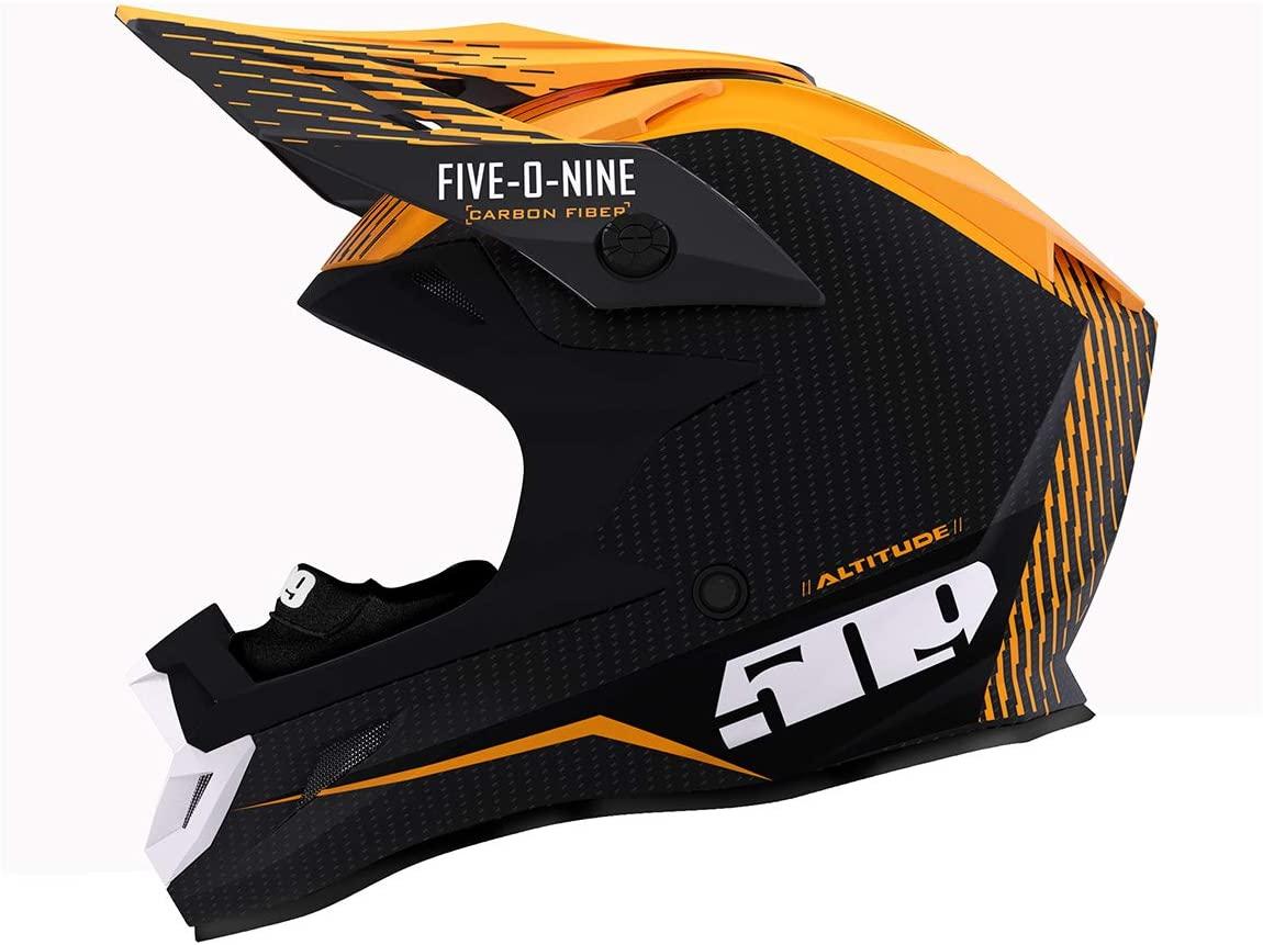 509 Altitude Carbon Fiber 3K Helmet with Fidlock (Off Grid Orange - X-Small)