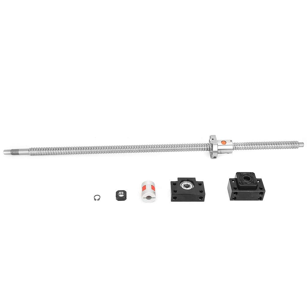 750mm Stainless Steel SFU1605 Ball Screw Coupler Set with BK/BF12 Brackets 6.35x10mm Connector for 3D Printer Parts