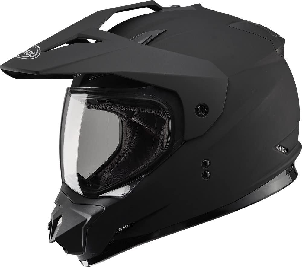 Gmax GM11D Dual Sport Full Face Helmet (Flat Black, XX-Large)