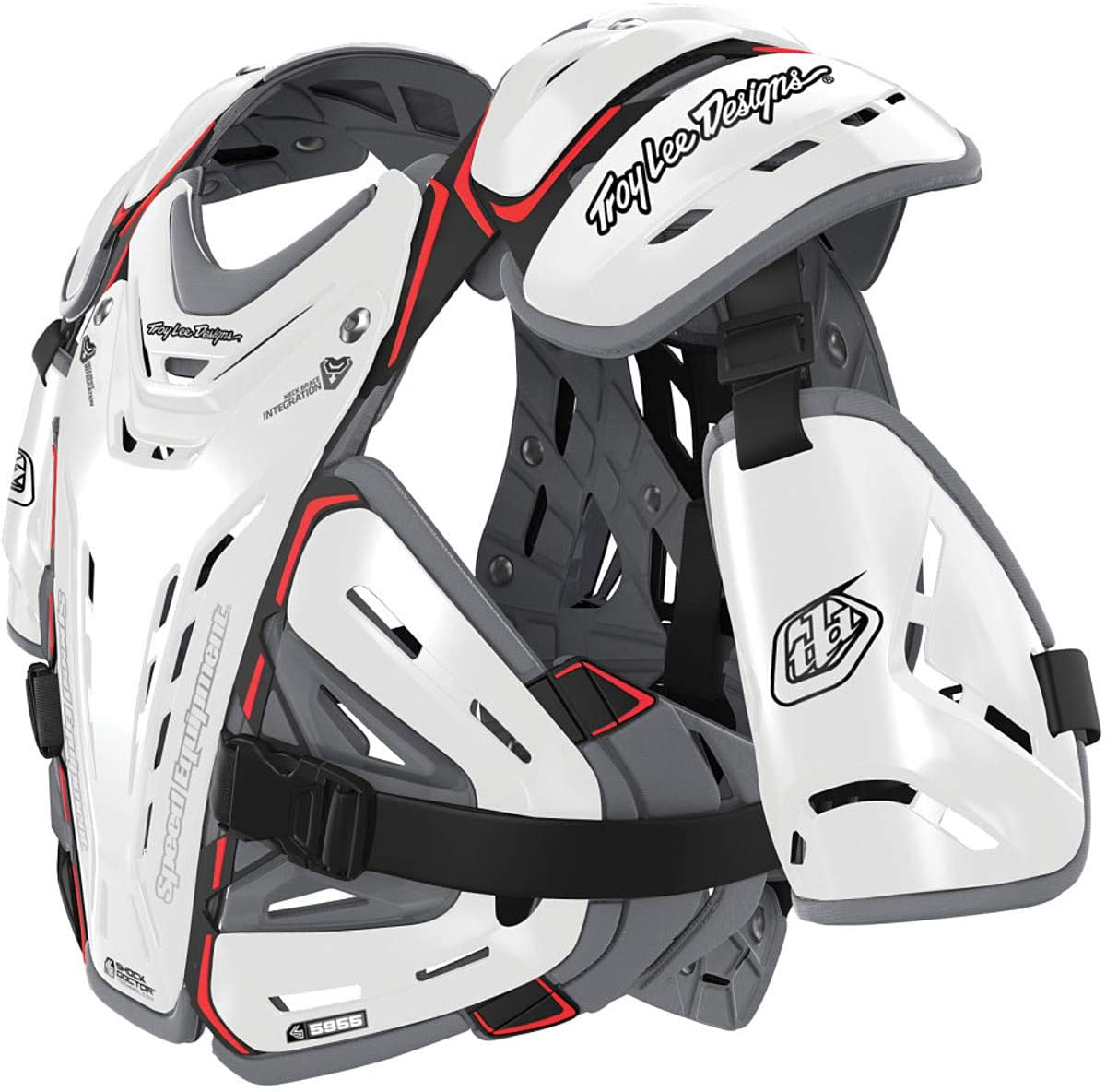 Troy Lee Designs 5955 Chest Body Guard-White-M