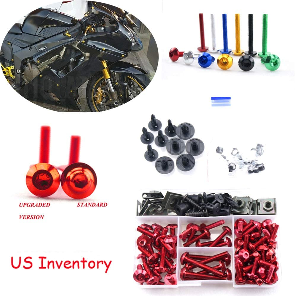 Complete Alloy Motorcycle Body Fairing Bolt Kit Body Screws For Kawasaki Ninja 300 2013-2015