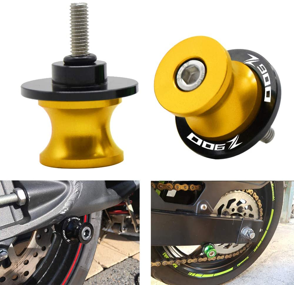 2Pcs 8MM Motorcycle CNC Swing Arm Stand Screws Sliders Spools For KAWASAKI Z900 Z 900 All years-Gold
