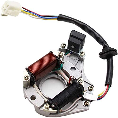 Stator Ignition Magneto Plate Rotor 2 Coils 5-Wires for Chinese made 50cc 70cc 90cc 100cc 110cc 125cc ATVs Dirt Bikes Go-Karts Pocket Bikes Choppers