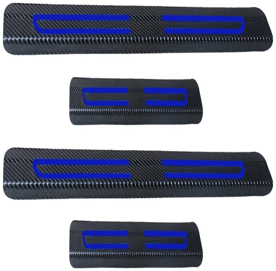 8X-SPEED For Chrysler 300 200 Paciffca Town and Country Vinyl Door Sill Protector Blue 4pcs