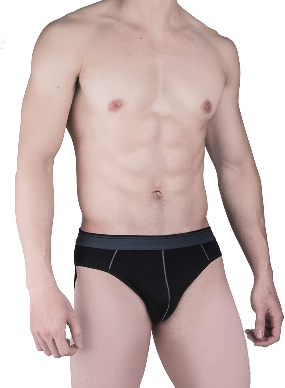 Set of 4 Men's Ultra-Soft Breathable Briefs   Lightweight Hygienic Underwear   95% Bamboo 5% Spandex   Made in Vietnam