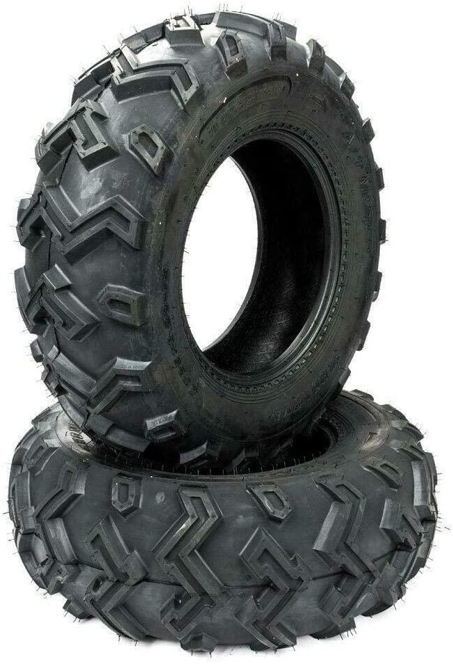 Set of (2) ATV UTV Tires 25x8-12 25-8-12 25x8x12 Front 6PR P306 All Terrain Tubeless
