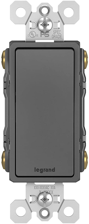 Legrand radiant 15 Amp Rocker Wall Switch, Decorator Light Switches, Black, 4-Way, TM874BKCC6