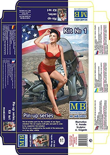 Masterbox 1/24 Scale Pin-Up Series, Kit No 1 Marylin - Plastic Model Building Kit # 24001