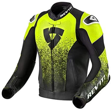 Revit Quantum Air Motorcycle Jacket Black-Fluo Yellow 50