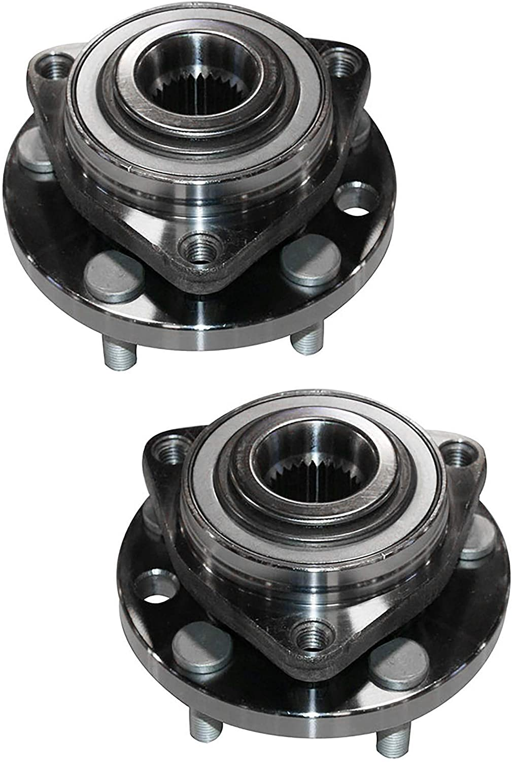 Wheel Hub Bearing Front Set of 2 Assembly Compatible With Pontiac 2006 2007 2008 Solstice