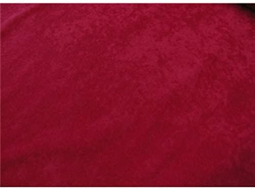 SyFabrics alova Suede Cloth Fabric 58 inches Wide Red