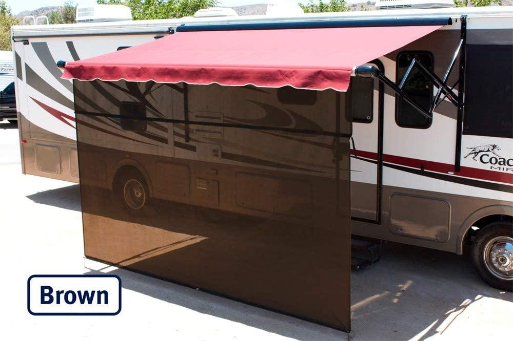 Shade Pro Vista Shade - RV Awning Sunscreen 85% Solar Mesh (19' x 10', Brown)