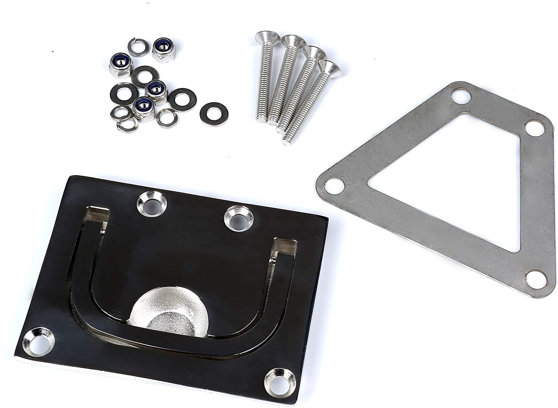 Mxeol Boat Hatch Pull Flush Lift Ring Recessed Handle Locker Cabinet Stainless Steel Marine 3