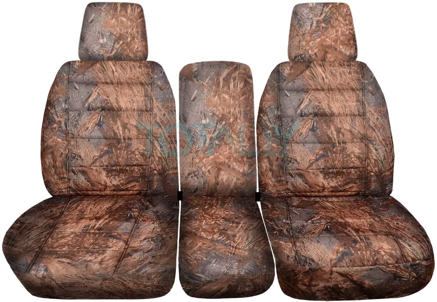 Totally Covers Compatible with 2004-2008 Ford F-150 Camo Truck Seat Covers (Front 40/20/40 Split Bench) w Center Console/Armrest, w/wo Integrated Seat Belts: Reeds Camouflage F-Series F150