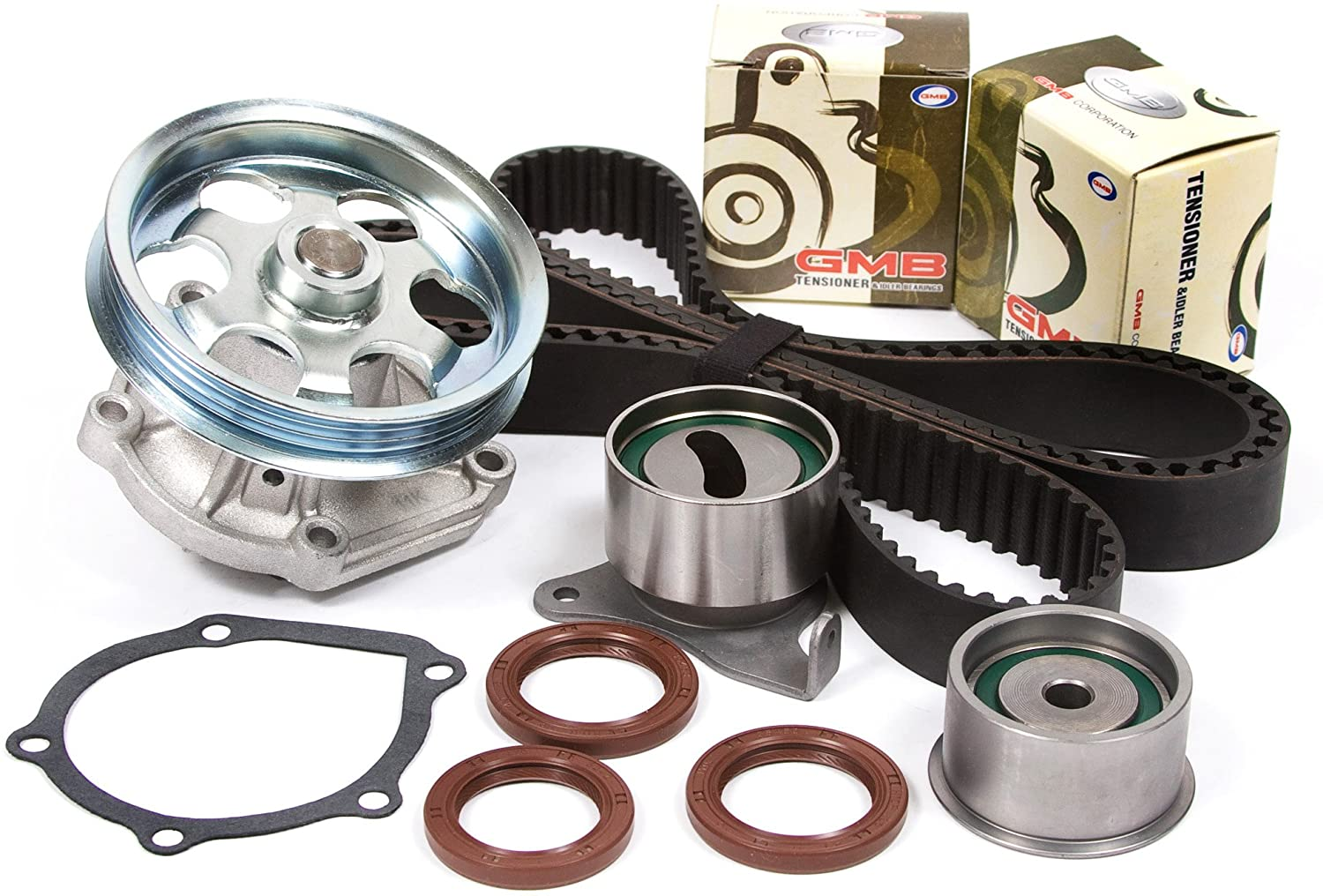 Evergreen TBK208WPT2 Compatible With 95-98 Toyota Paseo Tercel 1.5 DOHC 5EFE Timing Belt Kit Water Pump
