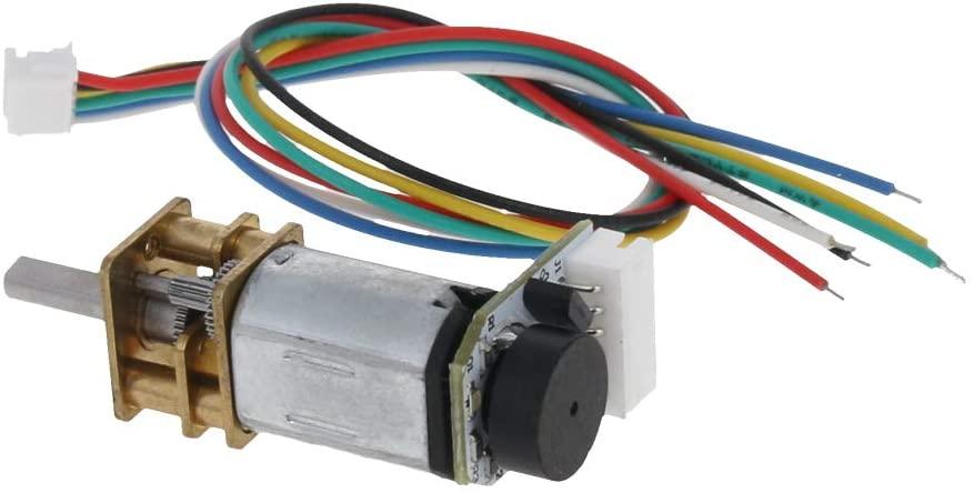 Fielect 500RPM GA12-N20 DC Gear Motor 3V Encoder Speed Velocity Measurement Mini Car Balance Motor Encoder DIY 1Pcs
