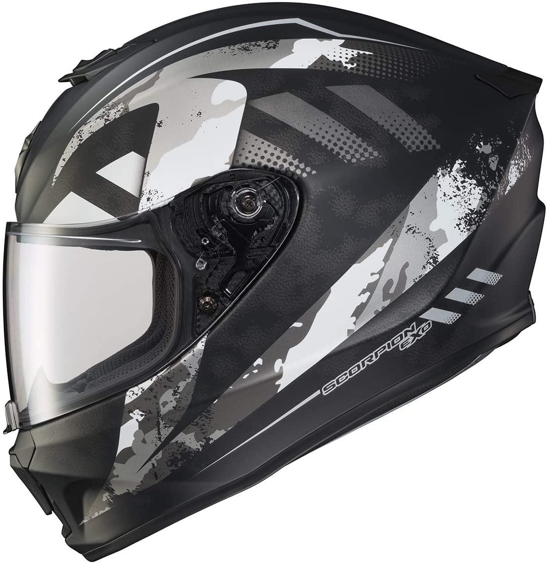 Scorpion EXO-R420 Helmet - Distiller (XX-Large) (Matte Black/Silver)
