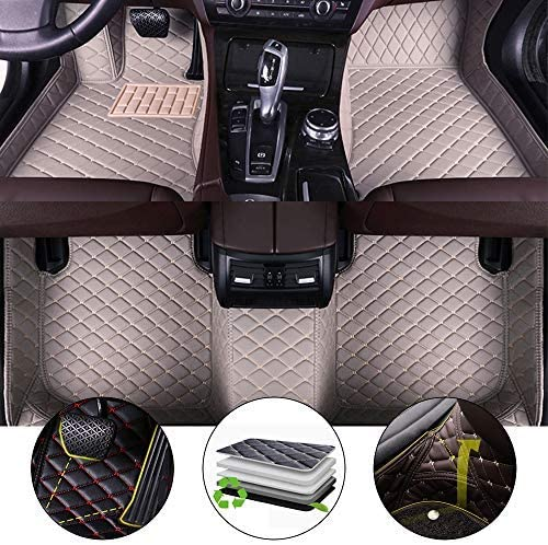 All Weather Floor Mat for 2004-2009 Cadillac SRX 7 Seats Full Protection Car Accessories Gray 3 Piece Set