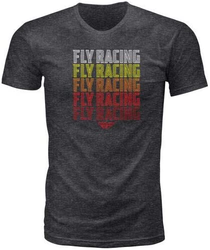 Fly Racing Nostalgia T-Shirt (X-Large) (Dark Grey Heather)