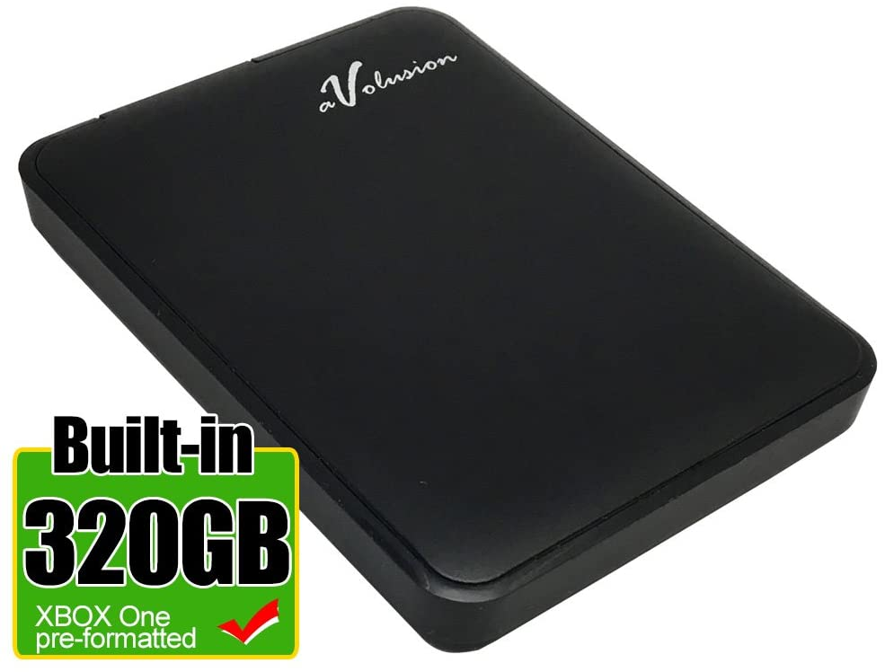 Avolusion 320GB USB 3.0 Portable External Gaming Hard Drive (for Xbox One, Pre-Formatted) HD250U3-Z1-2 Year Warranty
