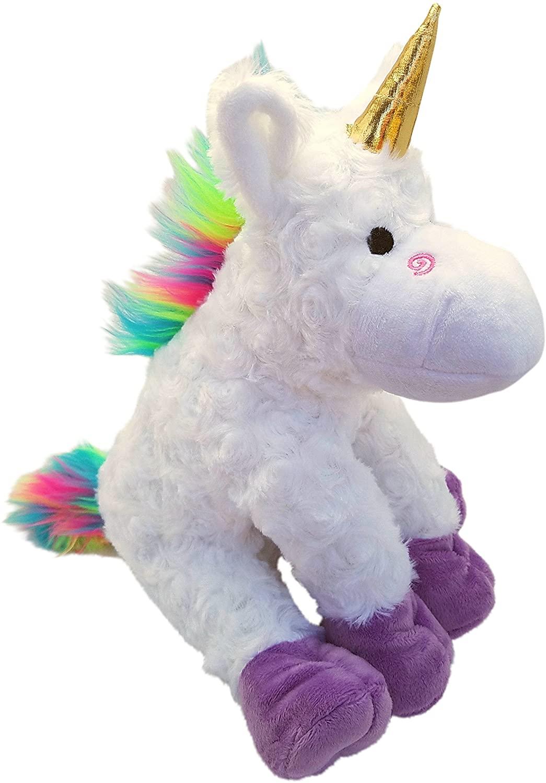 Rainbow Unicorn Stuffed Animal - 12 Inches