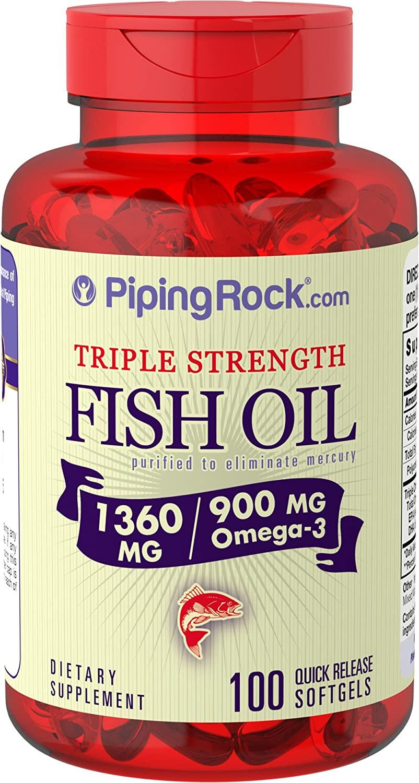Omega-3 Fish Oil Triple Strength 1360mg 100 Softge