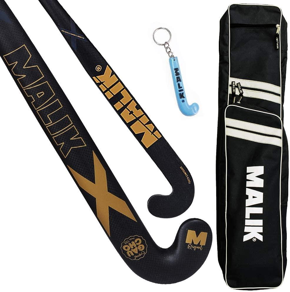 MALIK Field Hockey Stick Gaucho Jr | Available in Single & Multi-Pack - X-Treme Design - 90% Carbon, 5% Glass Fiber - Sports Indoor/Outdoor Ultra Light Street Hockey Stick For Juniors Kids Boy & Girls