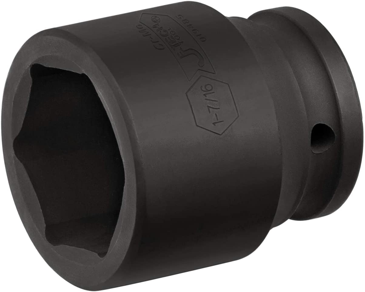 Jetech 3/4 Inch Drive 1-7/16 Inch Standard Impact Socket, Made with Chrome Molybdenum Alloy Steel, Heat Treated, 6-Point Design, SAE