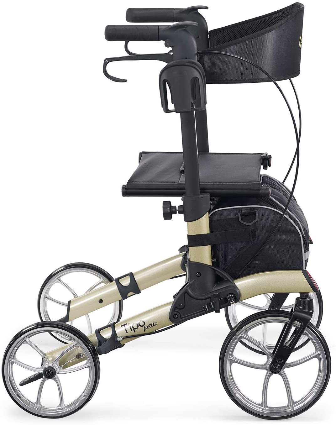 Comodita Tipo Petite Compact Rollator with Double Fold Action and Extra Large 10