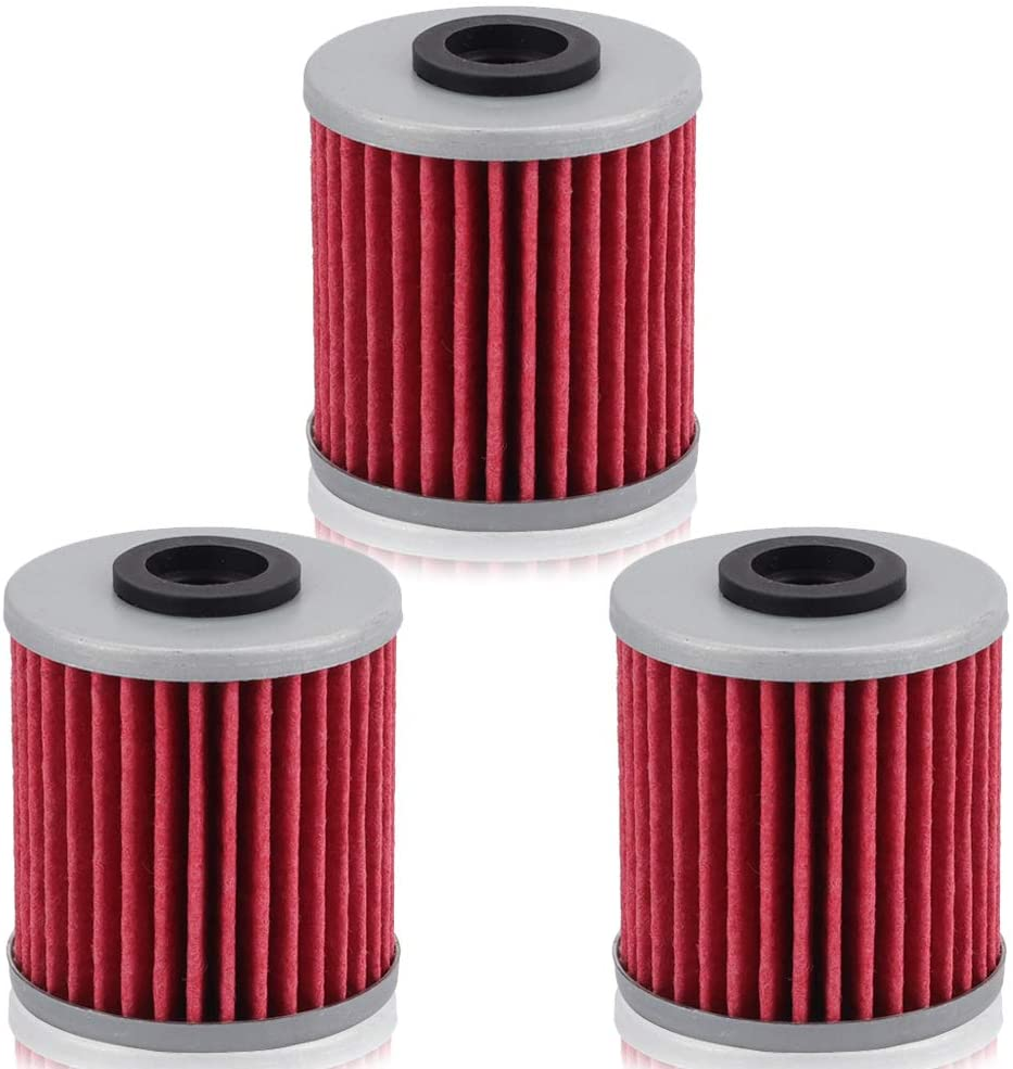 Alibrelo Motorcycle Oil Filter for Kawasaki KX250F KX450F Suzuki RMZ250 RMZ450 RMX450Z Replacement for HF207 207