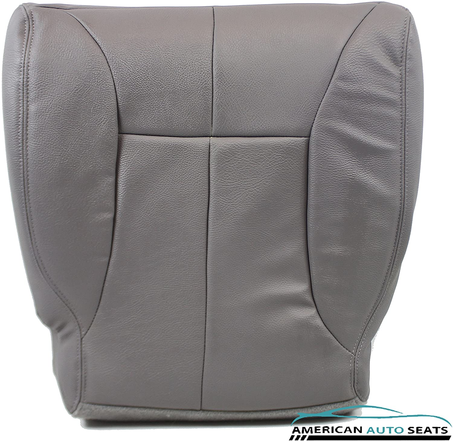 US Auto Upholstery Compatible with 1998 1999 Dodge Ram 1500 SLT -PASSENGER Side Bottom Synthetic Leather Seat Cover GRAY