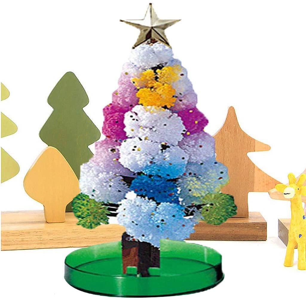 Magic Growing Christmas Tree,Xmas Gift Paper Tree Toy Boys Girls Novelty Xmas Gift,DIY Halloween Xmas Decorations Party Tree,Funny Educational Toy
