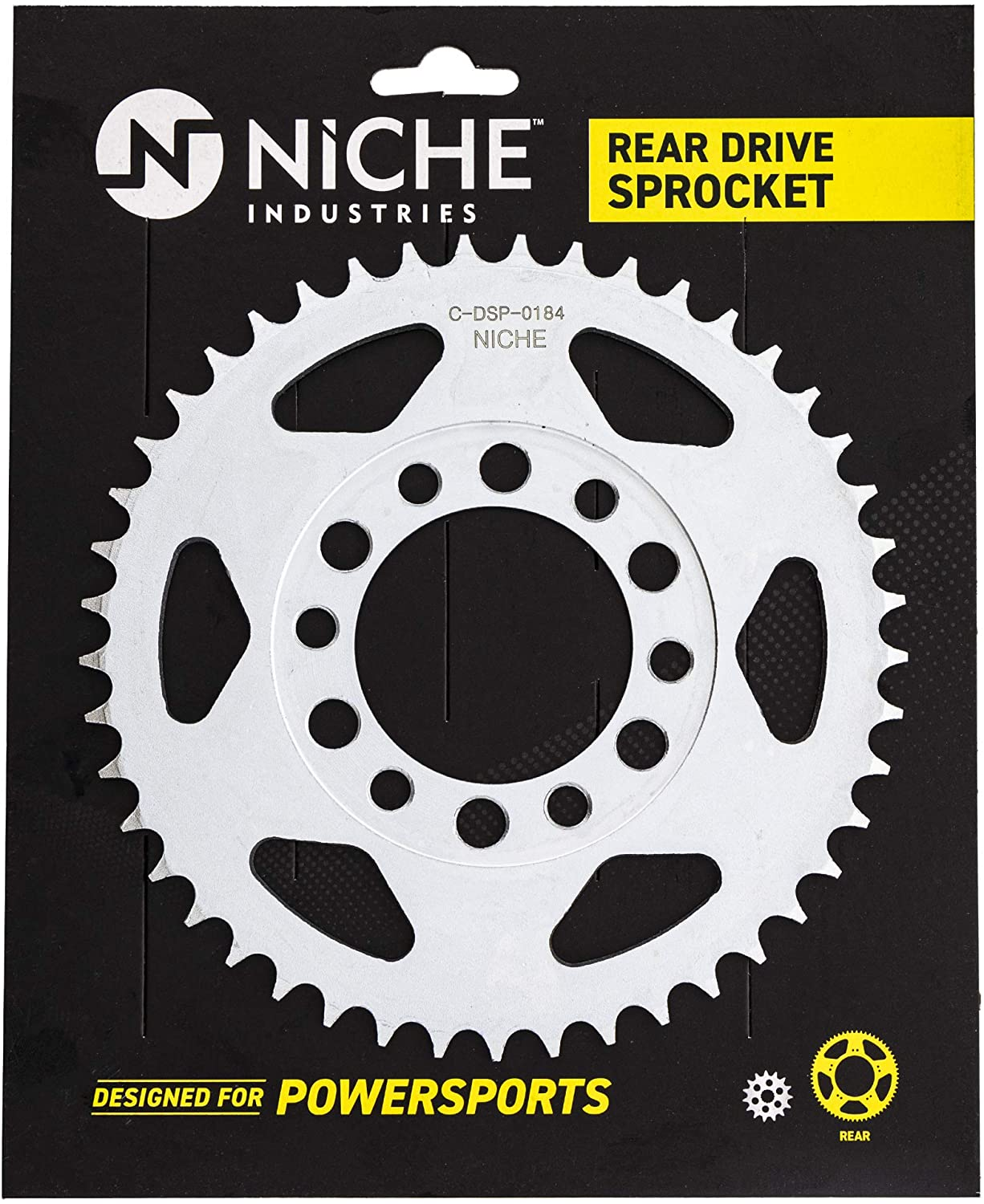NICHE 428 Pitch 45 Tooth Rear Drive Sprocket For 1969-1976 Yamaha DT175 DT125 AT1 CT1 CT2 CT3 248-25445-11-00