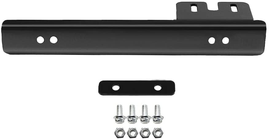 (Black) Universal Aluminum License Plate Relocator Car Front License Plate Mounting Relocate Bracket Holder for Most Auto