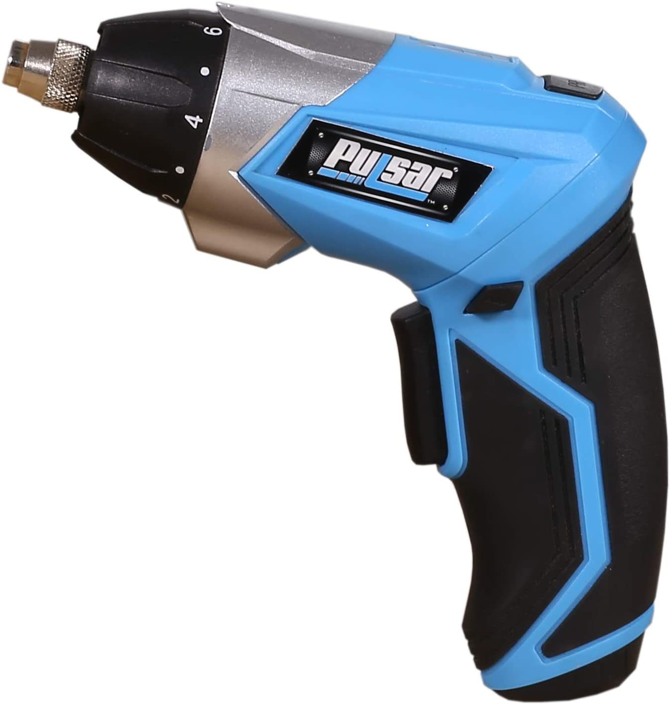 """Pulsar 3.6V Lithium-Ion 10+1 Torque Setting Cordless ¼"""" Screwdriver with Built-In LED Spotlight, LED Flashlight & Accessories, PT28136"""