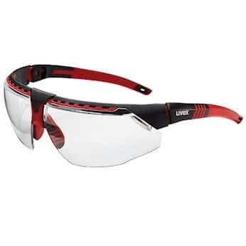 Uvex by Honeywell S2860 Avatar Safety Glasses, Red Frame, Clear, Antiscratch Hard Coat Lens; 10/BX
