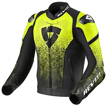 Revit Quantum Motorcycle Jacket Black-Fluo Yellow 50