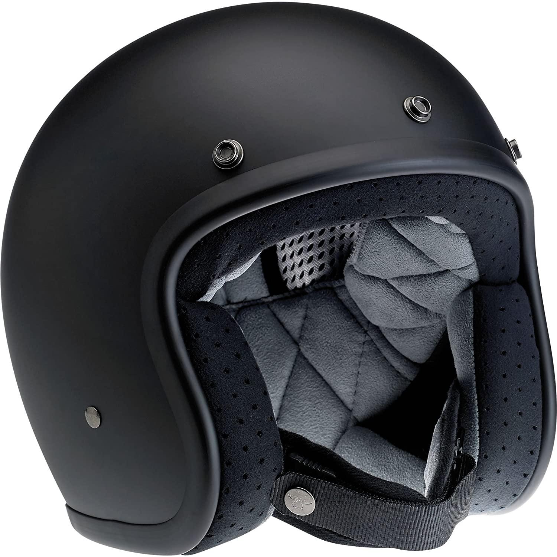 Biltwell Bonanza Half Helmet (Flat Black, Small)