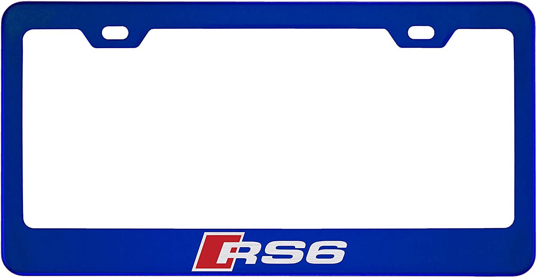 Audi RS6 Mirror Sapphire Blue License Plate Frame (Zinc)