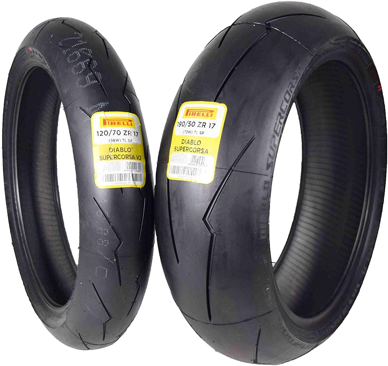 Pirelli Diablo Supercorsa V2 Front &/or Rear Street Sport Super bike Motorcycle Tires (1x Front 120/70ZR17 1x Rear 190/50ZR17)