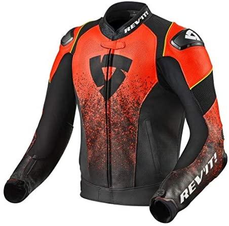 Revit Quantum Air Motorcycle Jacket Black-Fluo Red 48