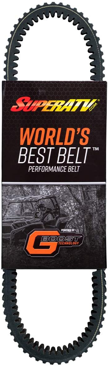 SuperATV Heavy Duty World's Best CVT Drive Belt for 2016-2020 Polaris RZR 1000 S (2-seat model only)   Smooth Engagement   400HP Shock Load Rating!